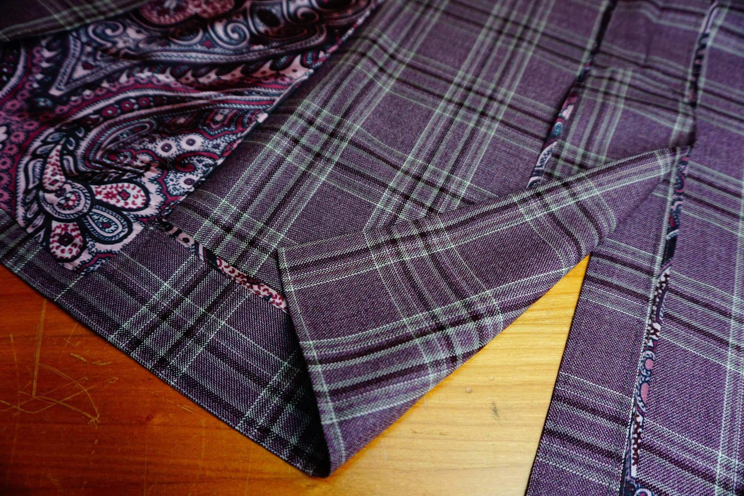 紫色西裝 中叉款式西裝