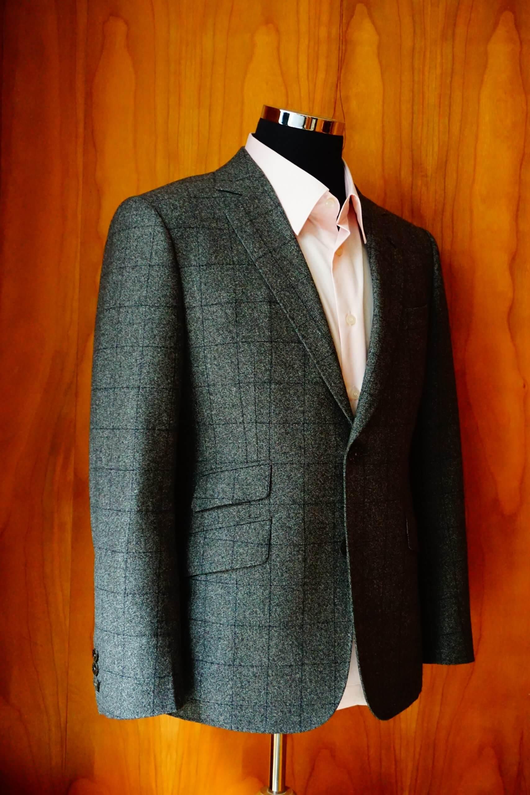 鐵灰色格紋西裝